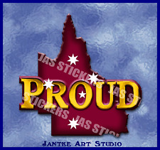 Queensland Proud Small State Australia Decal Stickers For Car Boat-STN125