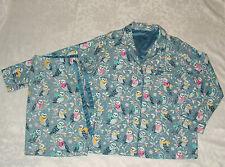 Nick & Nora Snowy Owl Scarf Pajama Set  Womens XXL Cotton Flannel Blue Gray