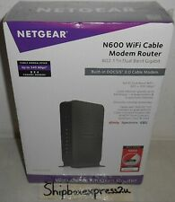 NEW NETGEAR WIFI CABLE MODEM 8 X 4 ROUTER N600 COMBO C3700 DOCSIS 3.0