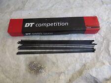 SALE 308 DT SWISS 2.0-1.8 mm STRAIGHT PULL 22 SPOKES + NIPPLES BLACK STAINLESS