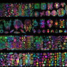 8x Holographic Nail Foil Dreamcatcher Xmas Geometric Nail Art Transfer Stickers