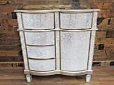 Mirrored Cabinet Antique Venetian Crackle Mirrored Glass Cabinet Storage Unit