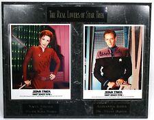 "Nana Visitor & Alexander Siddig 20""X16"" PLAQUE 8x10 AUTOGRAPHED Photos Star Trek"