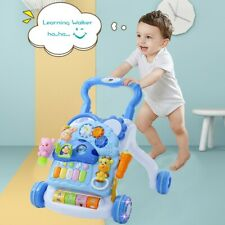 3 In 1 Piano Drum Baby Learning Walker With Sound & Light Toddlers Xmas Gifts