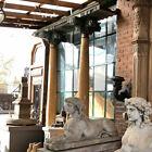 Pair Antique Indian Solid Satinwood & Teak Haveli Pillars with Beam 19th century