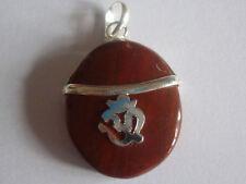 cristalloterapia PENDENTE CIONDOLO talismano OHM DIASPRO ROSSO amuleto chakra A+