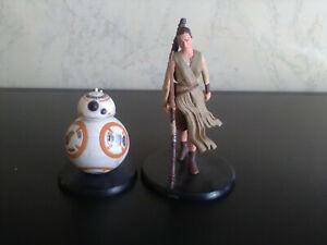 x2 Disney Star Wars Rey & BB-8 Deluxe Figurines
