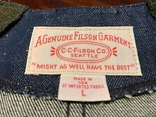Filson X Levis  Rare Denim Hunting Vest  New old stock in size Large Made in USA