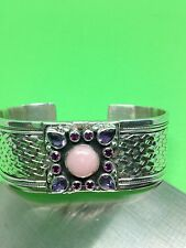 Vintage Nicky Butler 925 Sterling Silver Opal Tour Cuff Limited Ed. 92/200