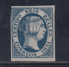 Espagne (1851) Neuf Espagne - Edifil 10 (6 R) Fausse - Lot 1
