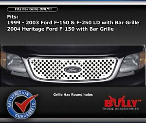 Stainless Perf Bar Grille Insert 99 01 02 03 Ford F-250