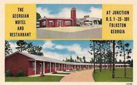 Postcard Georgian Motel + Restaurant Folkston Georgia