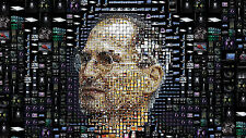 "Poster 24"" x 16""  Steve Jobs Face Portrait"
