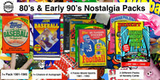 80's to Early 90's Nostalgia Unopened Wax Packs from Box Lot Pre-1986 Guarantee