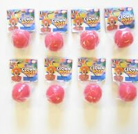 8 NEW RED CLOWN NOSES FOAM CLOWN NOSE COSTUME ACCESSORY BIRTHDAY PARTY FAVORS