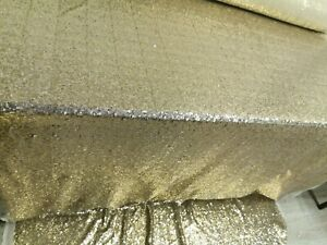 Champagne Gold Sequin Table cloth 2m x 2m stitched at the ends