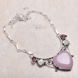 Rose Quartz Amethsyt Ethnic Handmade Necklace Jewelry 27 Gms  AN 70536