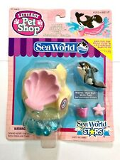 New Kenner 1995 Littlest Pet Shop Baby Shamu With Seashell Cradle Sea World