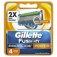 4 x Gillette Fusion Power ProGlide Men's Replacement Razor Blades with MicroComb