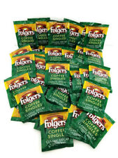(76) Folgers Coffee Singles Bags Medium Classic Decaf Decaffeinated Brew 03/19