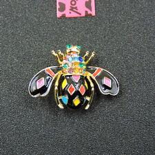 Betsey Johnson Colorful Bee Rhinestone Charm Inlaid Crystal Woman Brooch Pin