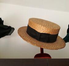 Antica paglietta cappello fine 800 inizo 900 vintage originale