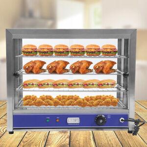 Heiße Theke Aufsatzvitrine Wärmebehälter Warmhaltetheke 4 Etagen 0 -85° C 1000W