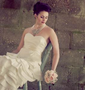 Temperley Dragon Silk Layer Fold Wedding Bridal Gown Maxi Designer Dress 10 38