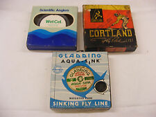 3 Boxes Vintage Fly Line New in Boxes Scientific Anglers Gladding Cortland