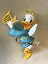 Grolier Disney Donald Duck Angel Wings Playing Harp Christmas Ornament 003906