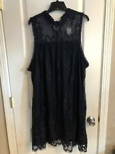 Maurices Plus Size Navy Lace Dress Size 3 NWT
