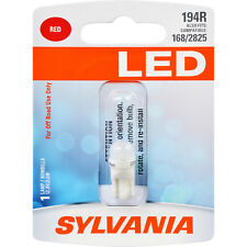 SYLVANIA LED 194 T10 W5W Red Automotive Bulb - also fits 168 & 2825
