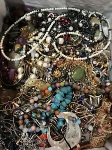 Mixed Jewelry Crafters Lot Mismatched Broken Crafts Repair ~ Over 16lbs ~ (Box8)