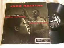 BILLIE HOLIDAY & RALPH BURNS Jazz Recital Lee Konitz Joe Guy Verve mono LP