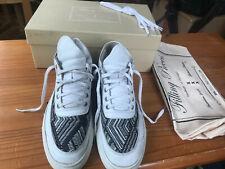 MENS FILLING PIECES AMSTERDAM FOOTWEAR MID TOP TSA WOVEN WHITE SZ 7 UK EU 41 BOX