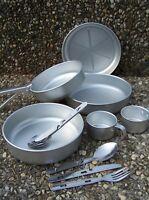 Camping Kochset 13-tlg Aluminium Töpfe Pfanne Tasse Besteck Feld Koch Geschirr