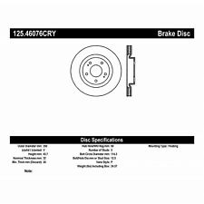 StopTech 125.46076CRY High Carbon Alloy Cryogenic Treated Disc Fits 08-15 Lancer