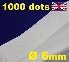1000 Pegamento Dots Sticky Craft Transparente tarjeta haciendo chatarra extraíble de 6 mm fácil bajo Tack