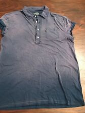 New Polo Jeans Company Women's  Size Small Shirt Short Sleeves Blue Washed Ombré