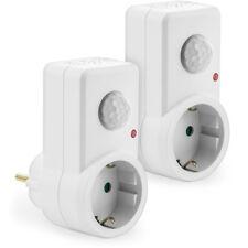 deleyCON 2x Infrarot Bewegungsmelder Steckdose 120° INNEN bis 9m LED Lampe Licht