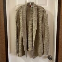 Divided by H&M Women's Tan Open Front Cardigan Sweater 12