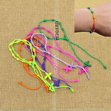 10pcs Knotted Rosary Bracelet Mixed Colors Handmade Rope Chain Fashion
