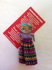 GUATEMALAN WORRY DOLL  FAIR TRADE BRIGHT  GIRL DOLL 8CM