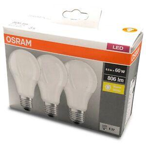 E27 LED Lampe OSRAM 8,5W 2700K Warmweiß wie 60W Lampen Birne nicht dimmbar