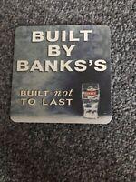 10 X BANKS LAGER DRINKS MATS PUB BAR BEERMATS BEER MANCAVE Bar Beer Coasters