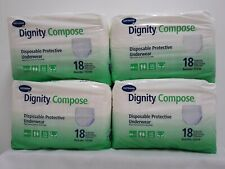 LOT OF 4 HARTMANN DIGNITY COMPOSE DISPOSABLE PROTECTIVE UNDERWEAR SIZE LARGE