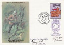 1973 ROYAL MARINES ASHANTI WAR COVER CARRIED & HAND SIGNED OC JOHN WILLIAMS