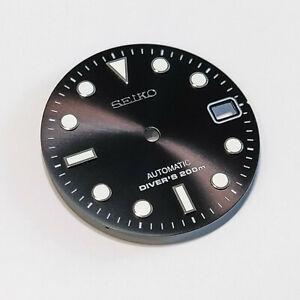 SUB Dial for Seiko SKX007, Seiko MOD part, fits NH35, C3Lume, BLACK