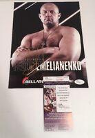 "Fedor Emelianenko Signed Strikeforce UFC MMA 8x10 1/2"" Promo Pic Photo JSA COA"