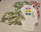 Lot of 4 NWT Old Navy Baby Clothes 18-24M camo pink 1pc short Girls Snap